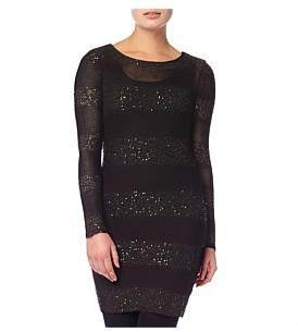 Phase Eight Abril Stripe Sequin Panel Dress