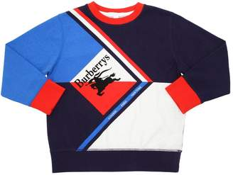 Burberry Logo Printed Cotton Sweatshirt