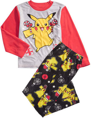 Pokemon Little & Big Boys 2-Pc. Pikachu Fleece Pajama Set