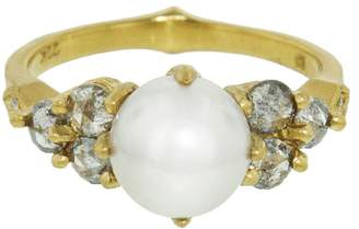 Cathy Waterman Akoya Pearl and Diamond Constellation Ring