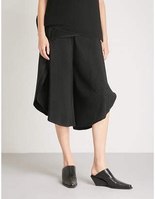 Issey Miyake Sun wide-leg cropped pleated trousers