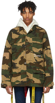 Off-White Tan Camo Field Jacket