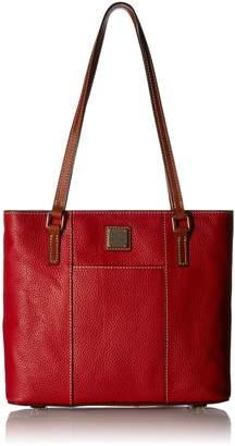 Dooney & Bourke Women's Small Lexington Shopper Red w/ Tan Trim