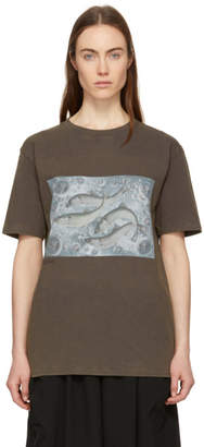 Acne Studios Grey Bemabe Fish Print T-Shirt