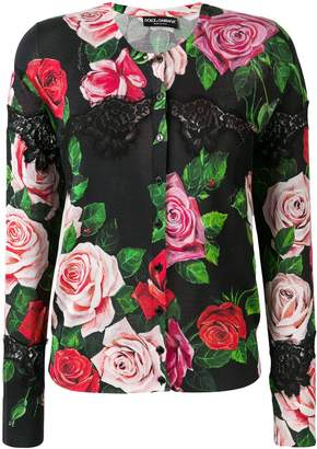 Dolce & Gabbana lace and floral cardigan