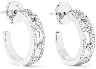 Möve Messika Pavé 18-karat White Gold Diamond Hoop Earrings