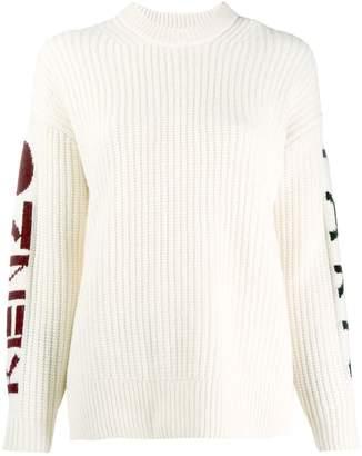 Kenzo chunky knit logo sweater
