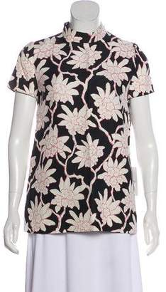 Valentino Floral Short Sleeve Top