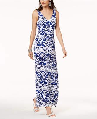 INC International Concepts I.n.c. Ikat-Print Maxi Tank Dress, Created for Macy's