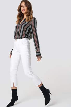 Evidnt Front Slit Denim Pants Off White
