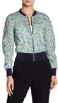 Cacharel Floral Print Lightweight Bomber Jacket