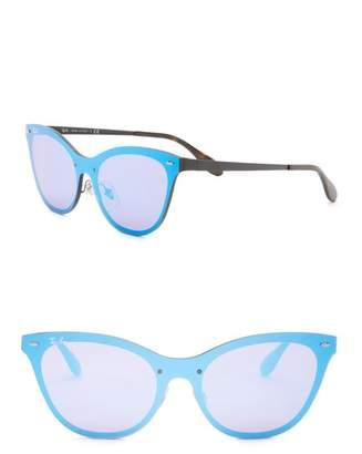 Ray-Ban 153mm Cat Eye Shield Sunglasses