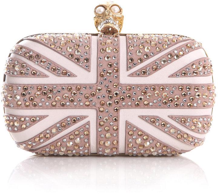 Alexander McQueen Crystal Britannia box clutch
