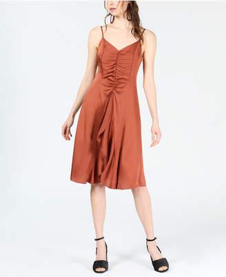 Bar III Ruffle-Front A-Line Dress