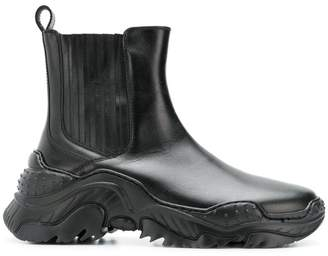 No.21 chunky sole ankle boots