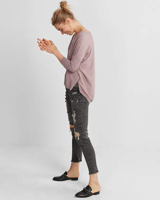 Express Side Zip Hi-Lo Sweater