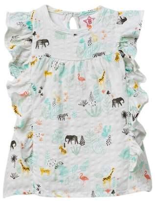 Rockin Baby Jungle Print Frilled Top (Baby Girls)