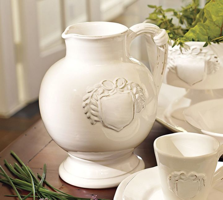 Pottery Barn Italian White Pitcher