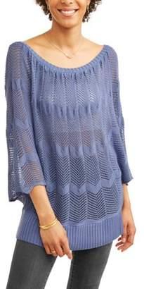 Willow & Wind Women's Open Stitch Sweater