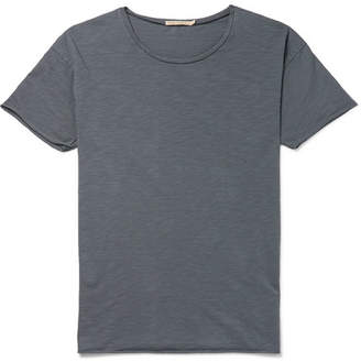 Nudie Jeans Roger Slub Cotton-Jersey T-Shirt - Men - Blue