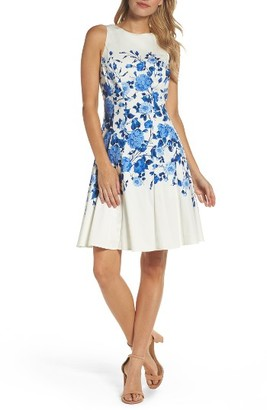 Women's Maggy London Stretch Cotton Fit & Flare Dress $98 thestylecure.com
