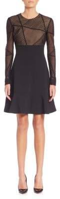 Aquilano Rimondi Geometric Lace Top Dress