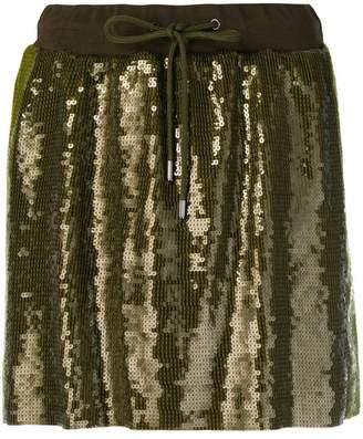 Alberta Ferretti sequins embellished short skirt