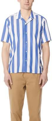 Gitman Brothers Wide Striped Camp Shirt