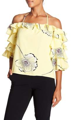 1 STATE 1.State Off Shoulder Blouson Tier Top
