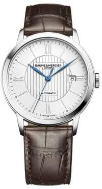 Baume & Mercier Classima 10214 Stainless Steel& Alligator Strap Watch
