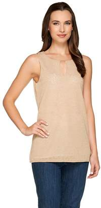 Kelly By Clinton Kelly Kelly by Clinton Kelly Layered Tank with Beaded Detail
