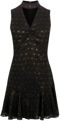 Karen Millen Drop Waist Metallic Dress
