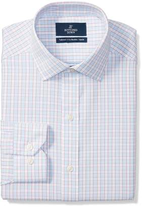 Buttoned Down Men's Tailored Fit Spread-Collar Pattern Non-Iron Dress Shirt