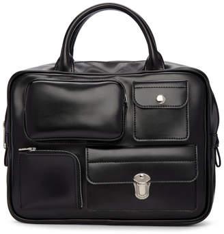 Comme des Garcons Black Faux-Leather Multi Wallet Bag