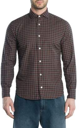 Eleventy Trim Fit Check Sport Shirt