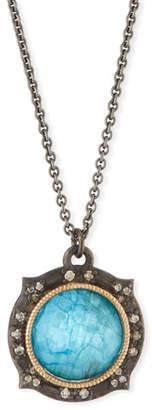 Armenta New World Apatite/Quartz Doublet Pendant Necklace