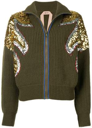 No.21 sequined cardigan