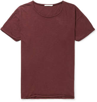 Nudie Jeans Roger Slub Cotton-Jersey T-Shirt - Burgundy