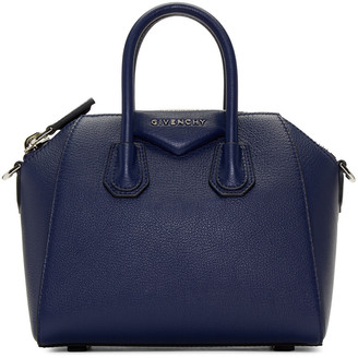 Givenchy Blue Mini Antigona Bag $1,750 thestylecure.com