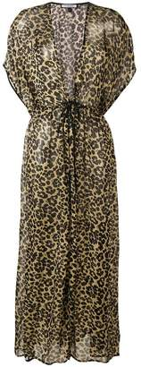 Fisico leopard print maxi dress