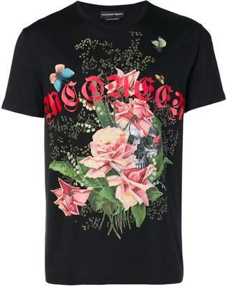 Alexander McQueen floral logo T-shirt