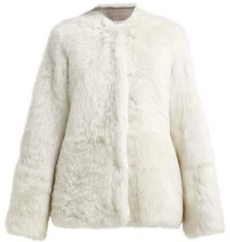 Raey 1970s Shearling Coat - Womens - Ivory