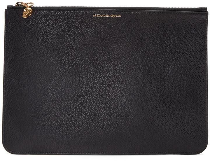 Alexander McQueenAlexander McQueen Black Leather Pouch