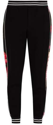 Alexander McQueen Floral Panel Track Pants - Mens - Black Multi