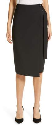 BOSS Vavella Stretch Wool Wrap Skirt