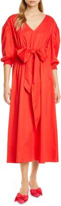 Kate Spade Puff Sleeve Midi Dress