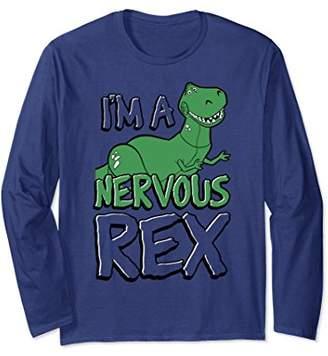 Disney Pixar Toy Story Nervous Rex Graphic Long Sleeve Tee