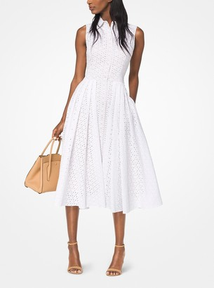 Michael Kors Eyelet Cotton Shirtdress