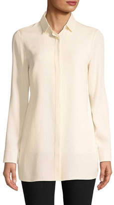 Akris Solid Silk Blouse