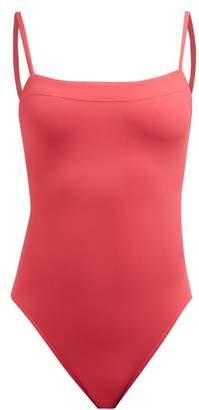 Eres Les Essentiels Aquarelle Square Neck Swimsuit - Womens - Pink